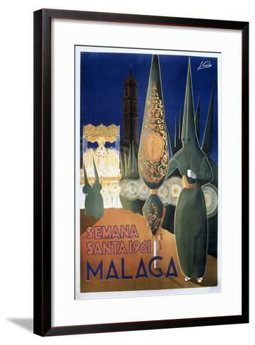 Travel Poster of the Holy Week in Malaga (1961)--Framed Art Print