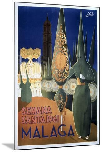 Travel Poster of the Holy Week in Malaga (1961)--Mounted Art Print