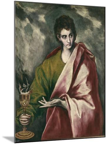Saint John the Evangelist-El Greco-Mounted Art Print
