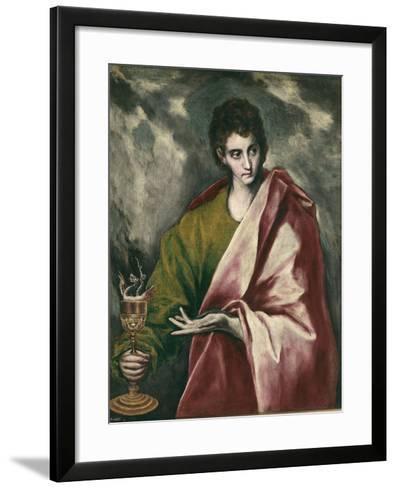 Saint John the Evangelist-El Greco-Framed Art Print