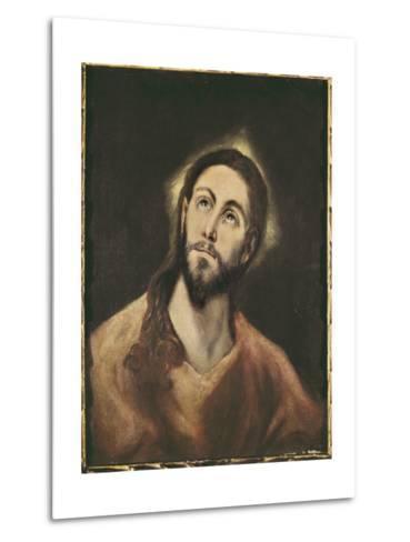 The Saviour-El Greco-Metal Print