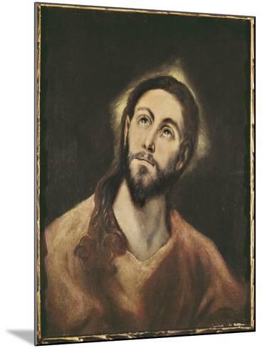 The Saviour-El Greco-Mounted Art Print