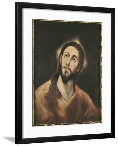 The Saviour-El Greco-Framed Art Print