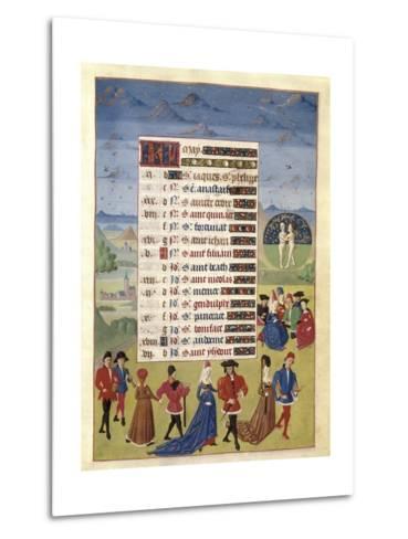 Hours of Adelaide of Savoy-Adelaida de Saboya and Jean Rolin-Metal Print