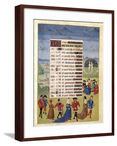 Hours of Adelaide of Savoy-Adelaida de Saboya and Jean Rolin-Framed Art Print