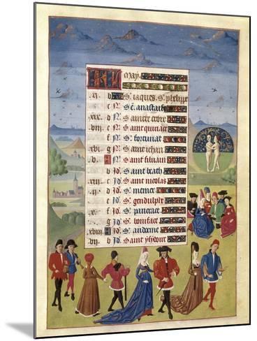 Hours of Adelaide of Savoy-Adelaida de Saboya and Jean Rolin-Mounted Art Print