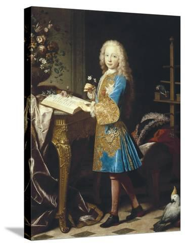 Charles III of Spain as a Child-Jean Ranc-Stretched Canvas Print