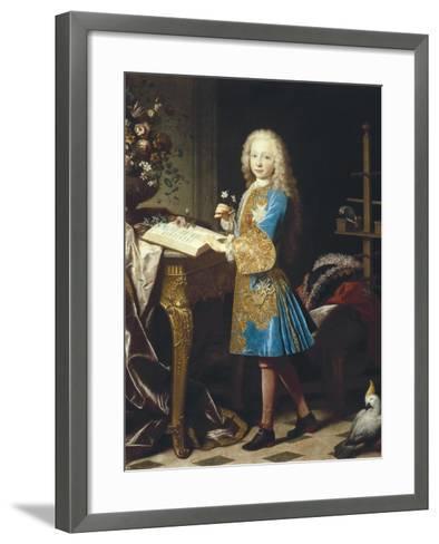 Charles III of Spain as a Child-Jean Ranc-Framed Art Print