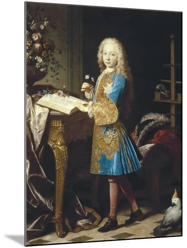 Charles III of Spain as a Child-Jean Ranc-Mounted Art Print