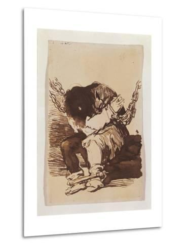 Chained Prisoner, Seated-Suzanne Valadon-Metal Print