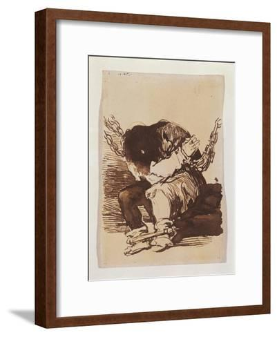 Chained Prisoner, Seated-Suzanne Valadon-Framed Art Print