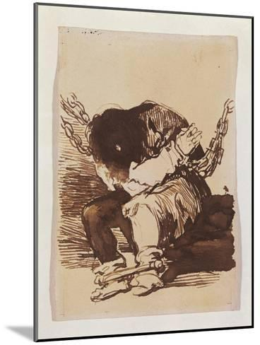 Chained Prisoner, Seated-Suzanne Valadon-Mounted Art Print