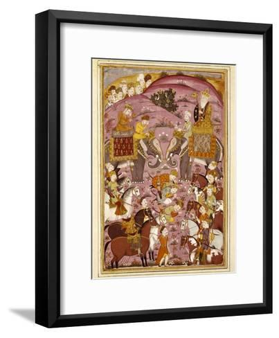 First Meeting of Rostam and His Grandfather, Sam--Framed Art Print