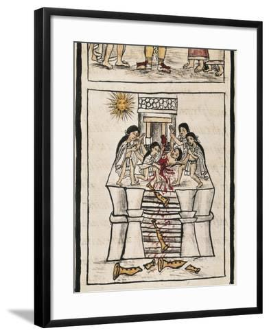 Aztec Sacrifice to the Good Tezcatilipoca--Framed Art Print