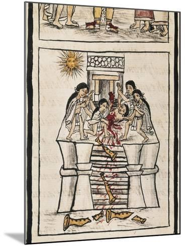 Aztec Sacrifice to the Good Tezcatilipoca--Mounted Art Print
