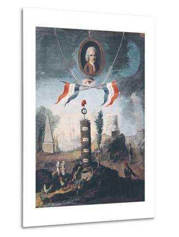 Allegory of the Revolution-Nicolas Henri Jeaurat de Bertry-Metal Print