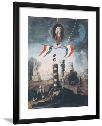 Allegory of the Revolution-Nicolas Henri Jeaurat de Bertry-Framed Art Print