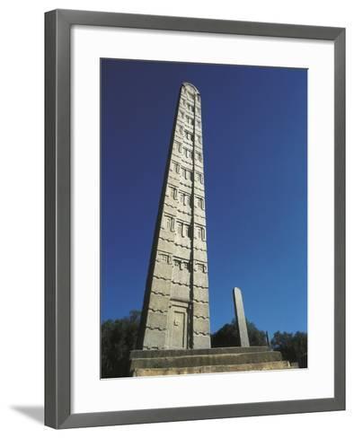 Tallest Stela of Axum--Framed Art Print