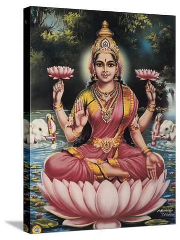 Hindu Goddess Srhi Sentamarai Laximi, Wife of Vishnu--Stretched Canvas Print