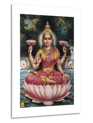Hindu Goddess Srhi Sentamarai Laximi, Wife of Vishnu--Metal Print