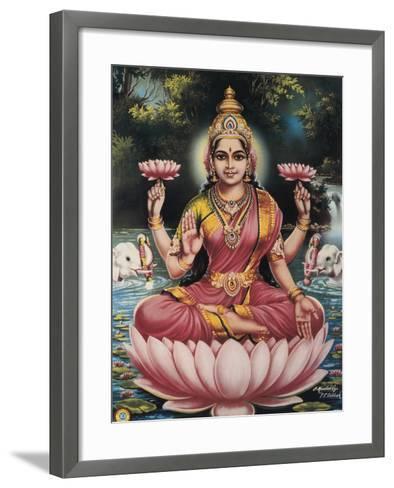 Hindu Goddess Srhi Sentamarai Laximi, Wife of Vishnu--Framed Art Print