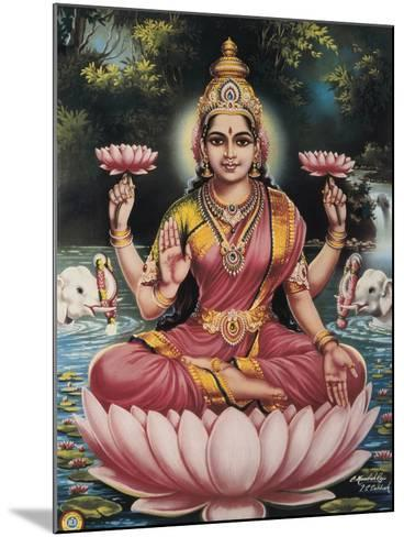 Hindu Goddess Srhi Sentamarai Laximi, Wife of Vishnu--Mounted Art Print