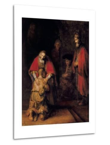 Return of the Prodigal Son-Rembrandt van Rijn-Metal Print