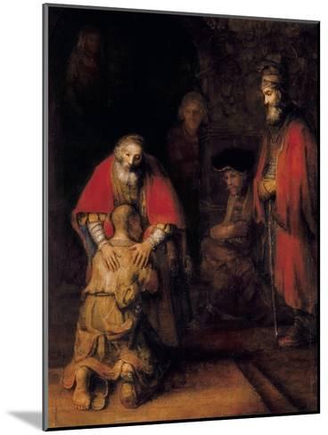 Return of the Prodigal Son-Rembrandt van Rijn-Mounted Art Print