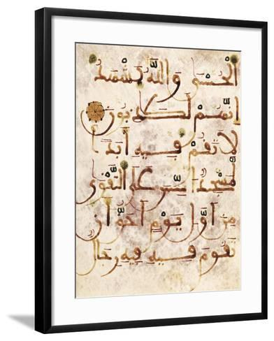 Koran Written in Arabic Calligraphy--Framed Art Print
