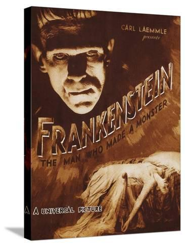 Frankenstein--Stretched Canvas Print