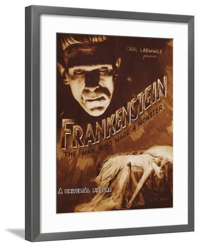 Frankenstein--Framed Art Print