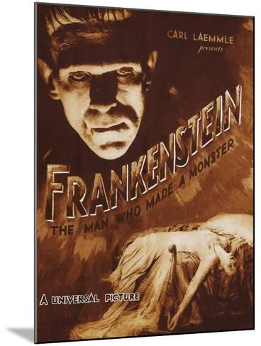 Frankenstein--Mounted Art Print
