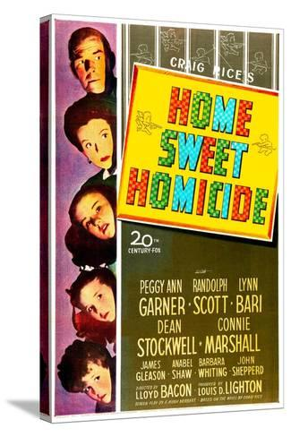 Home Sweet Homicide--Stretched Canvas Print