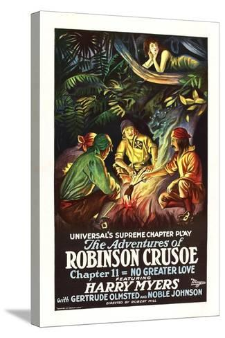 The Adventures of Robinson Crusoe--Stretched Canvas Print