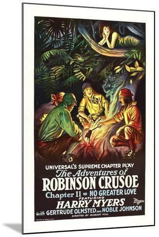 The Adventures of Robinson Crusoe--Mounted Art Print