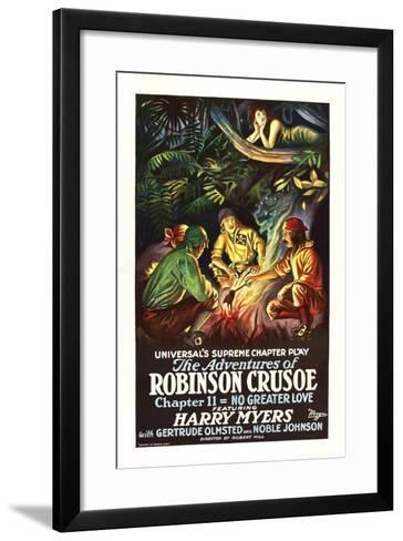 The Adventures of Robinson Crusoe--Framed Art Print