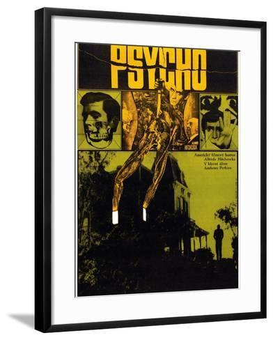 Psycho--Framed Art Print