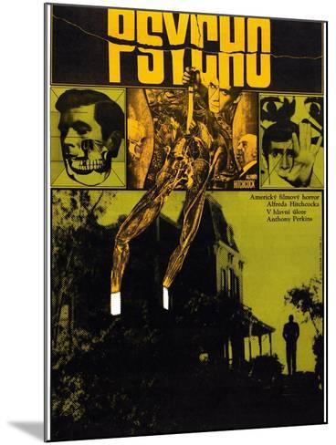 Psycho--Mounted Art Print