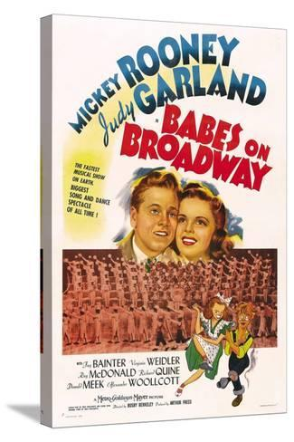Babes on Broadway--Stretched Canvas Print