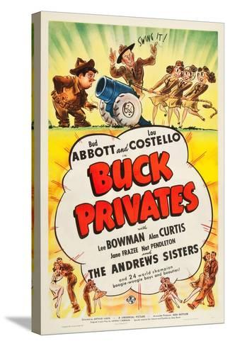 Buck Privates--Stretched Canvas Print