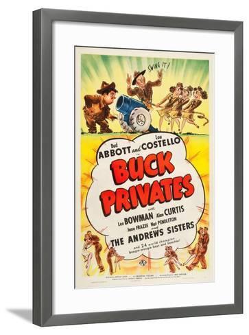 Buck Privates--Framed Art Print