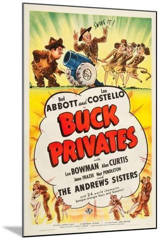 Buck Privates--Mounted Art Print