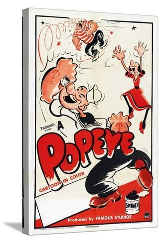 Popeye (Left)--Stretched Canvas Print