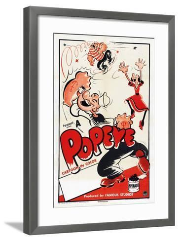 Popeye (Left)--Framed Art Print