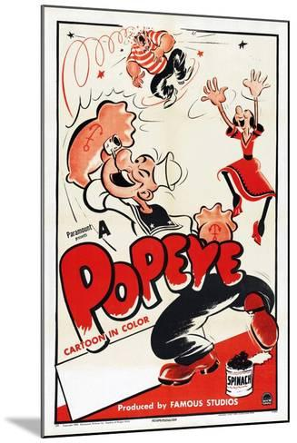 Popeye (Left)--Mounted Art Print