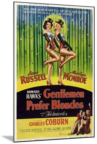 Gentlemen Prefer Blondes, 1953--Mounted Art Print