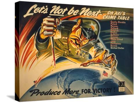 General Motors World War 2 Poster--Stretched Canvas Print
