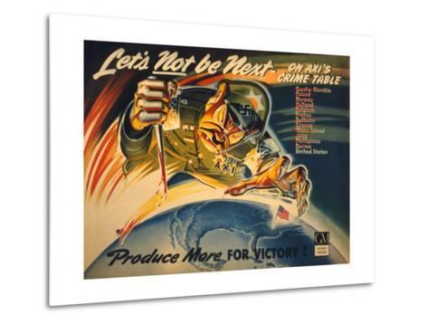 General Motors World War 2 Poster--Metal Print