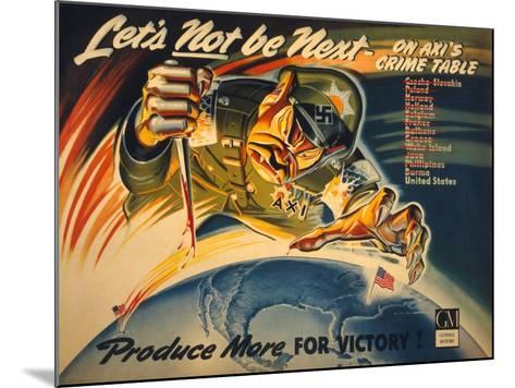 General Motors World War 2 Poster--Mounted Art Print