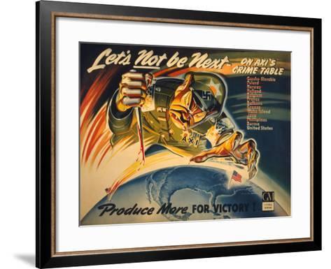 General Motors World War 2 Poster--Framed Art Print